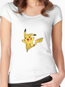 Pokemon Pikachu Spark Women's Fitted Scoop T-Shirt