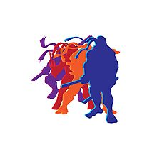 Teenage Mutant Ninja Silhouettes Photographic Print