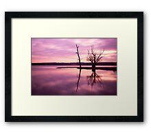 A Beautiful Pink Sunset Framed Print
