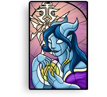 Stained Glass - Draenei Canvas Print