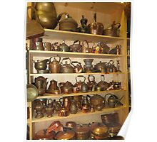 Copper Pots and Teapots Poster