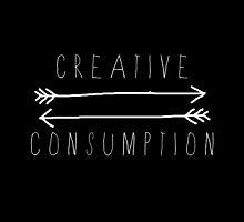 Creative Consumption B&W by juhjinkies