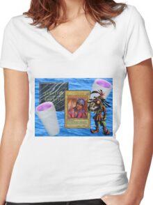 Based God Women's Fitted V-Neck T-Shirt
