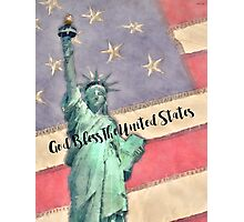 God Bless The United States Photographic Print