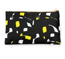 Simple black, yellow and white design Studio Pouch