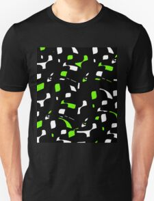 Simple black, green and white design Unisex T-Shirt