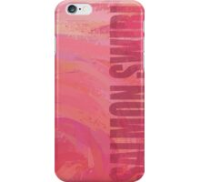 Salmon Swirl iPhone Case/Skin