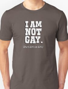 I am not gay, but $20 is $20 Unisex T-Shirt