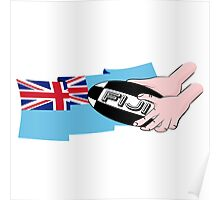 FIJI RUGBY FLAG Poster