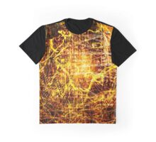Conspiracy Background in Yellow Graphic T-Shirt