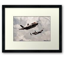 617 Then and Now Framed Print