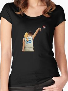 basket pokeball Women's Fitted Scoop T-Shirt