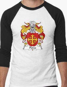 Perez Coat of Arms/Family Crest Men's Baseball ¾ T-Shirt