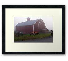 Vermont Foggy Morning Down On The Farm Framed Print