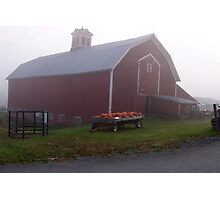 Vermont Foggy Morning Down On The Farm Photographic Print