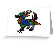 Night Elf Cuties - Hippogryph Greeting Card