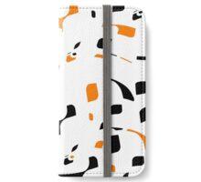 Simple black, orange and white design iPhone Wallet/Case/Skin