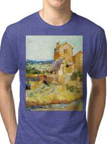 The Old Mill by Vincent Van Gogh Tri-blend T-Shirt