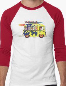 VW Camper. Surfs Up Dude. Men's Baseball ¾ T-Shirt