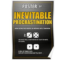 Poster of Inevitable Procrastination Poster
