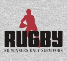 RUGBY - NO WINNERS ONLY SURVIVORS Kids Tee