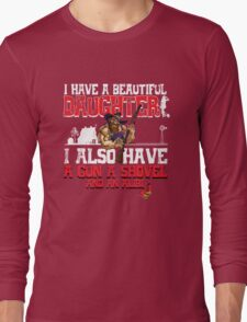 Hillbilly - I Have A Beautiful Daughter Black Distressed Variant Long Sleeve T-Shirt