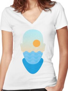 Summer Soul Women's Fitted V-Neck T-Shirt