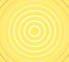 Geometric Sunburst, Mustard Gold Sticker