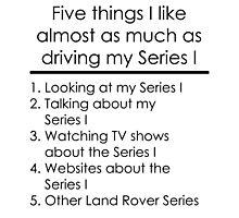 5 Things I Like - Series 1 Photographic Print