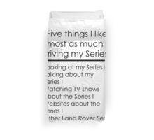 5 Things I Like - Series 1 Duvet Cover