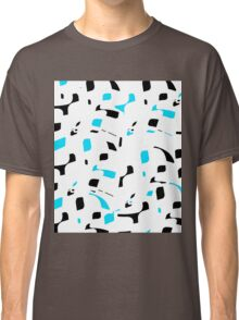Simple black, blue and white design Classic T-Shirt