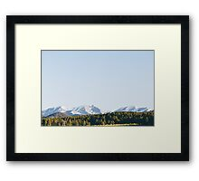 Oh Hey, Mountains  Framed Print