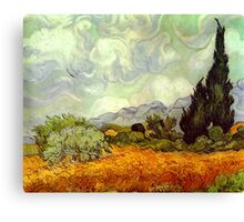 Landscape by Vincent Van Gogh Canvas Print