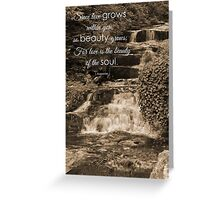 Beauty of the Soul Greeting Card