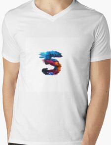 Lucky number five 5 made of paint  Mens V-Neck T-Shirt
