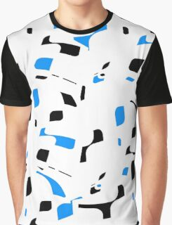 Simple black, blue and white design Graphic T-Shirt