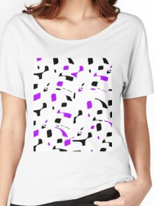 Simple black, purple and white design Women's Relaxed Fit T-Shirt