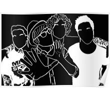 Fall Out Boy Tumblr Inspired Black and White Outline Poster