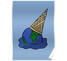 Melting Ice Cream/Earth Poster