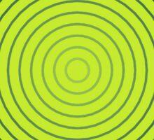 Geometric Sunburst, Lime and Denim Blue Sticker
