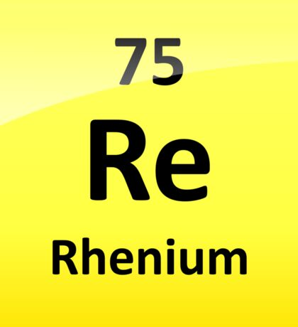 Rhenium Periodic Table Element Symbol Sticker