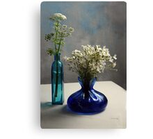 White and Blue Elegance Canvas Print