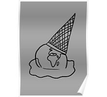 See Through Melting Ice Cream/Earth Poster