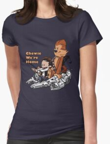 Chewie And Han Calvin And Hobbes Womens Fitted T-Shirt