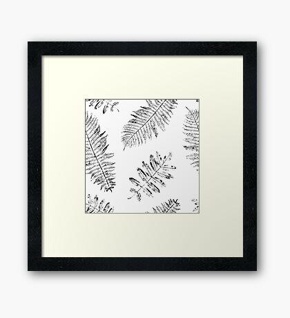 Forest leaves Framed Print