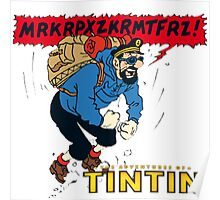 tintin_haddock Poster