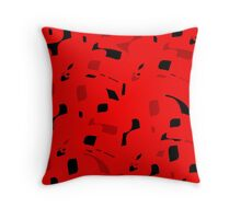 Red decorative abstraction Throw Pillow