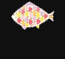 Grunge fish. Zipped Hoodie