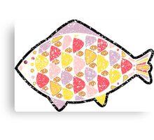 Grunge fish. Canvas Print