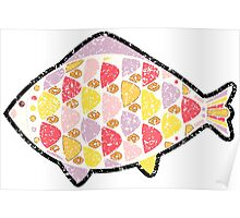 Grunge fish. Poster